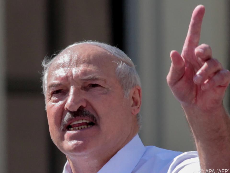 Alexander Lukaschenko attackiert den Westen