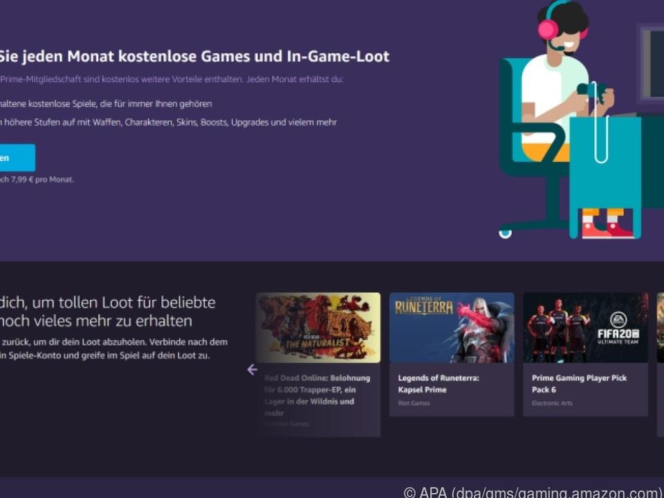 Amazons neue Startseite für Prime Gaming