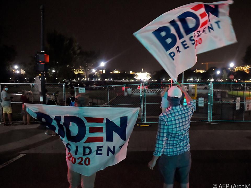 Anhänger von US-Kandidat Biden