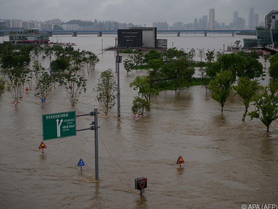 Besonder der Großraum Seoul ist von den Überschwemmungen betroffen