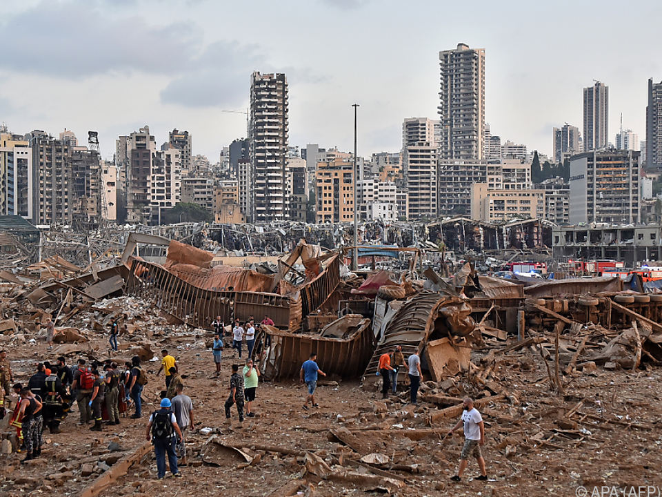 Das Ausmaß der Zerstörungen ist gewaltig