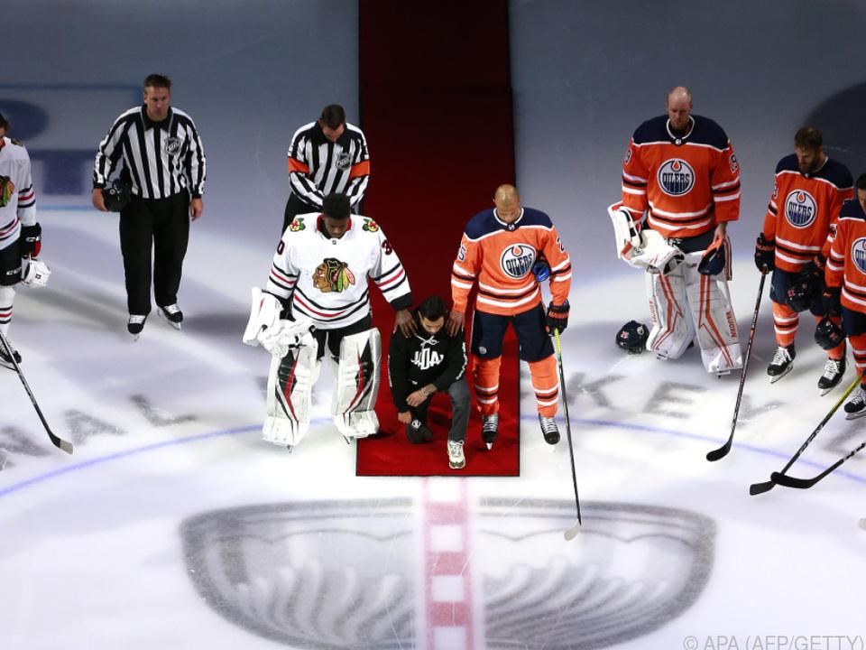 Der Auftakt der NHL stand im Zeichen der Botschaft \