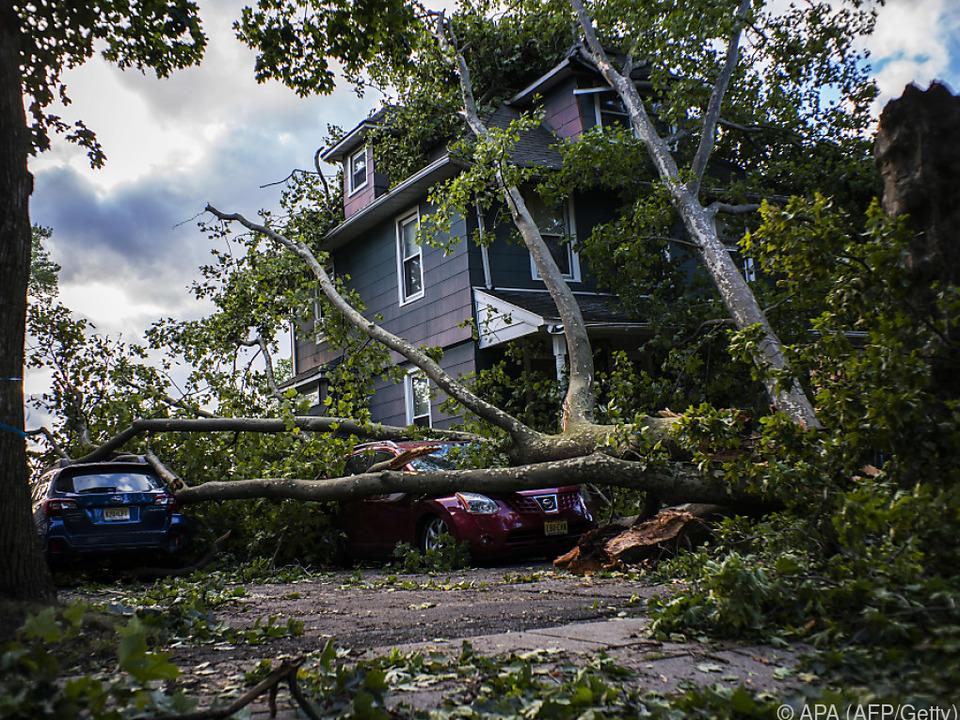 Der Sturm richtete große Schäden an