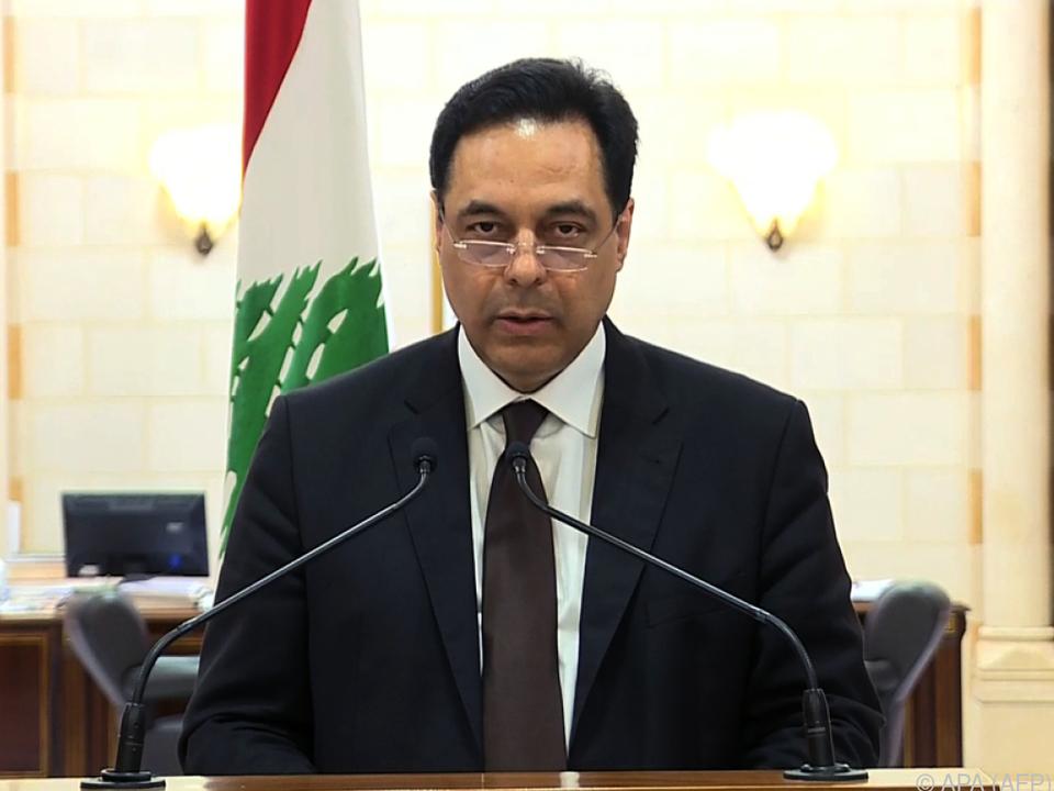 Diab verkündet den Rücktritt der Regierung