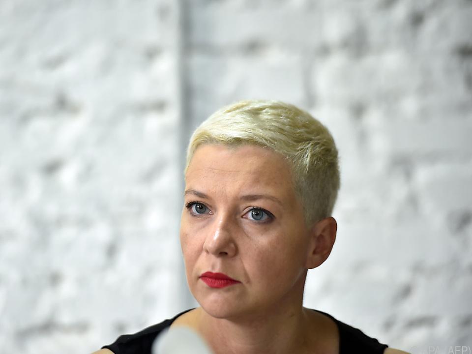 Die führende Oppositionelle Maria Kolesnikowa
