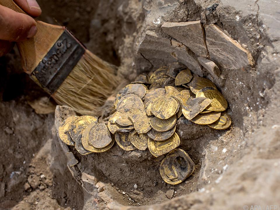 Die Münzen wurden vor 1.100 Jahren vergraben