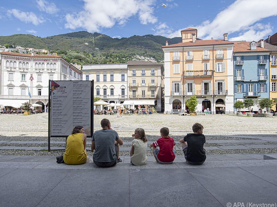 Die Piazza Grande in Locarno bleibt diesmal leer