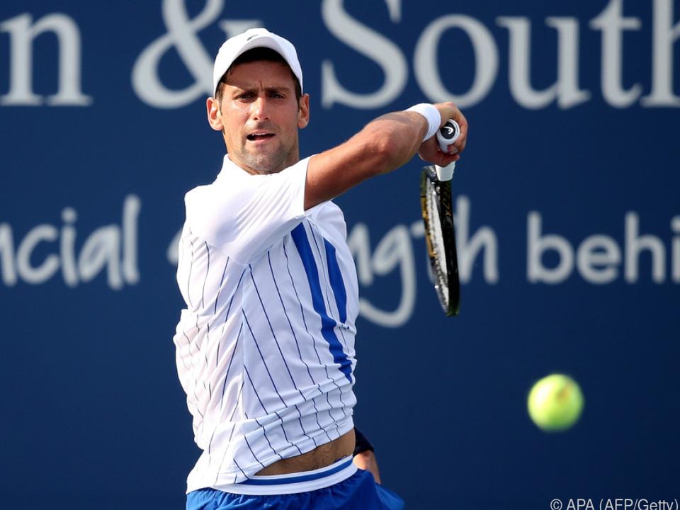 Djokovic setzte sich gegen Tenny Sandgren durch