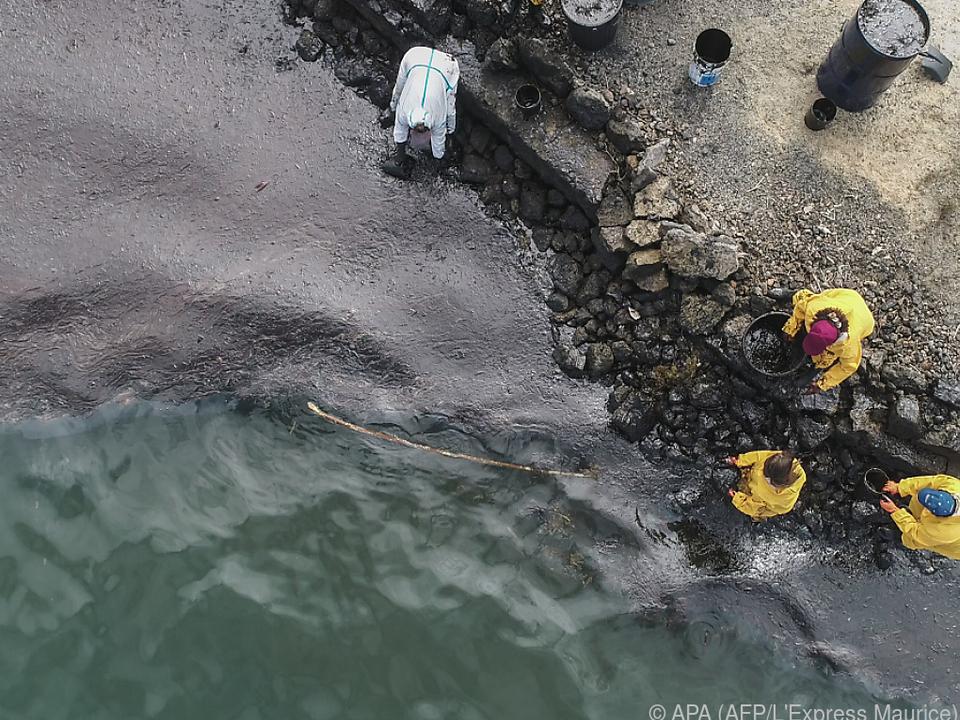 Durch das ausgetretene Öl entstand bereits enormer Schaden