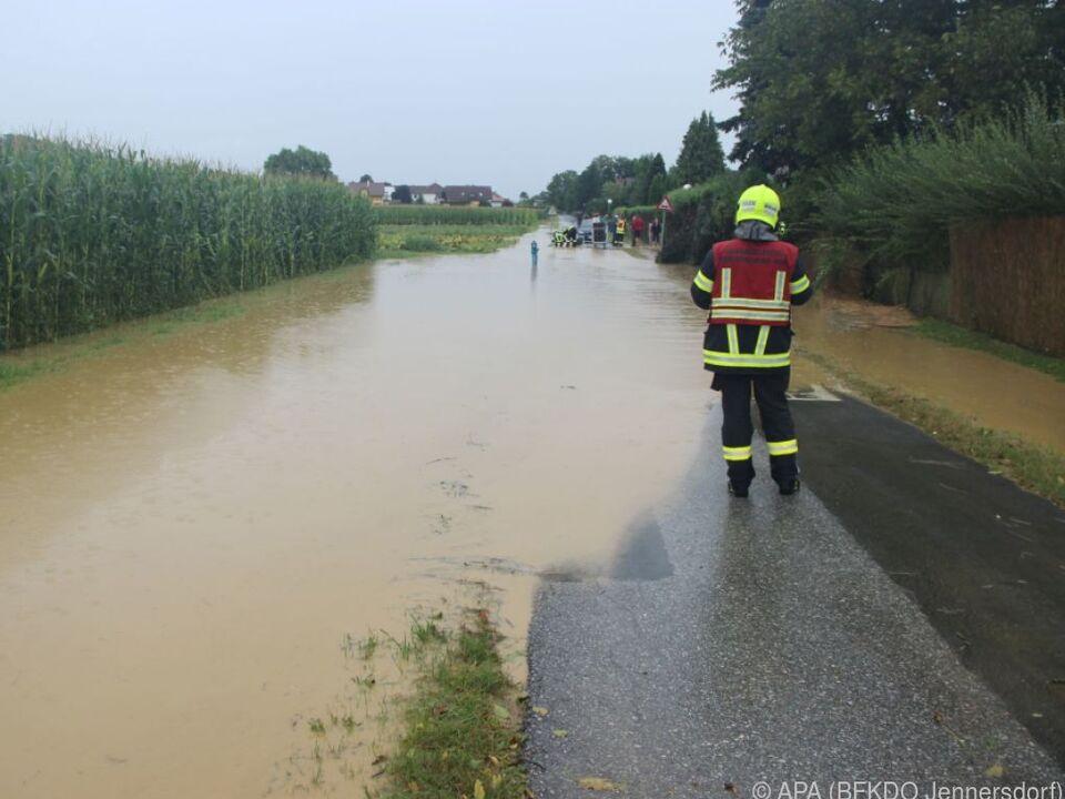 Es kam zu lokalen Überschwemmungen