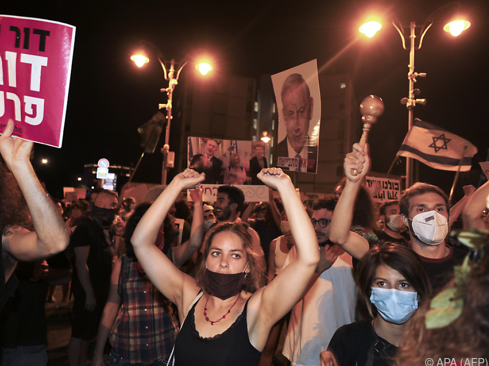 Gegner Netanyahus demonstrieren schon seit Wochen