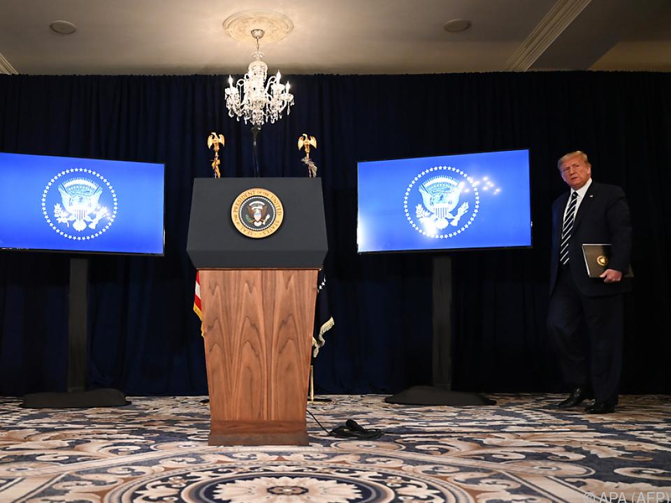 Genaueres will der Präsident in einer Pressekonferenz bekanntgeben