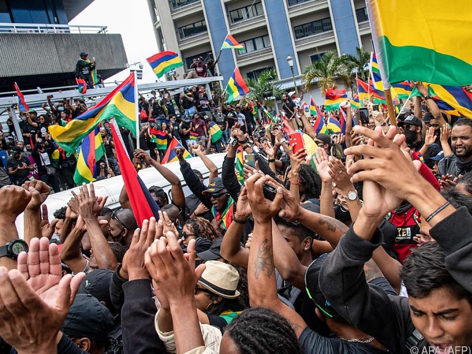 Große Protestversammlung in Port Louis