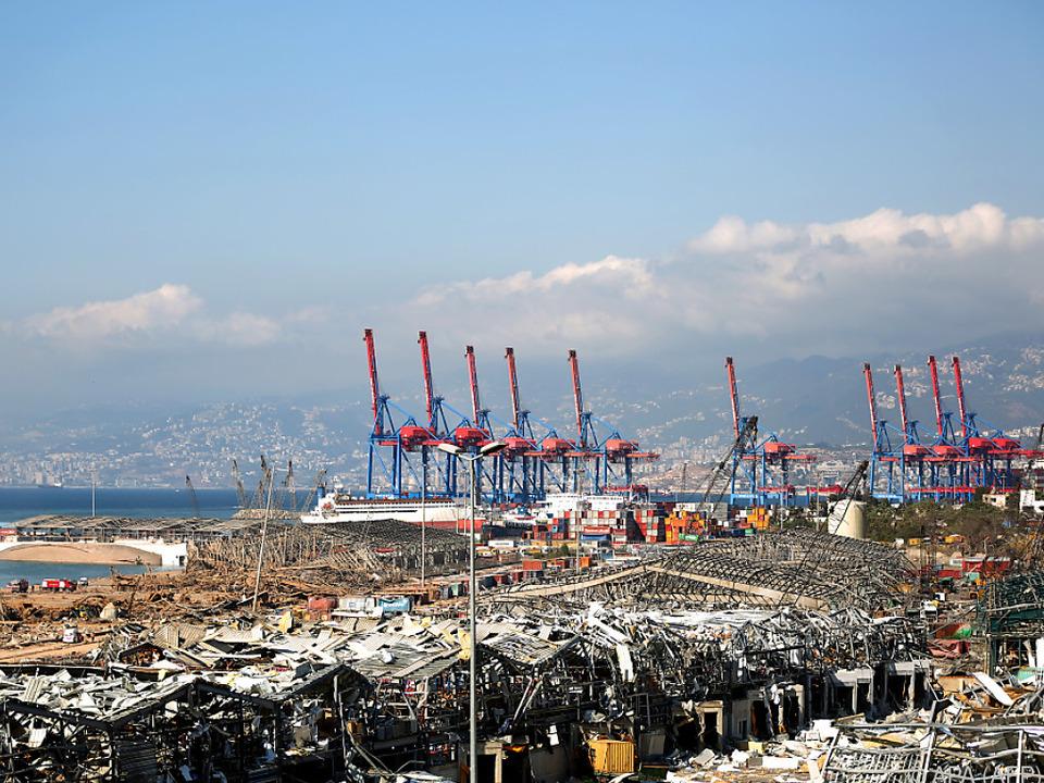Große Teile des Hafens zerstört