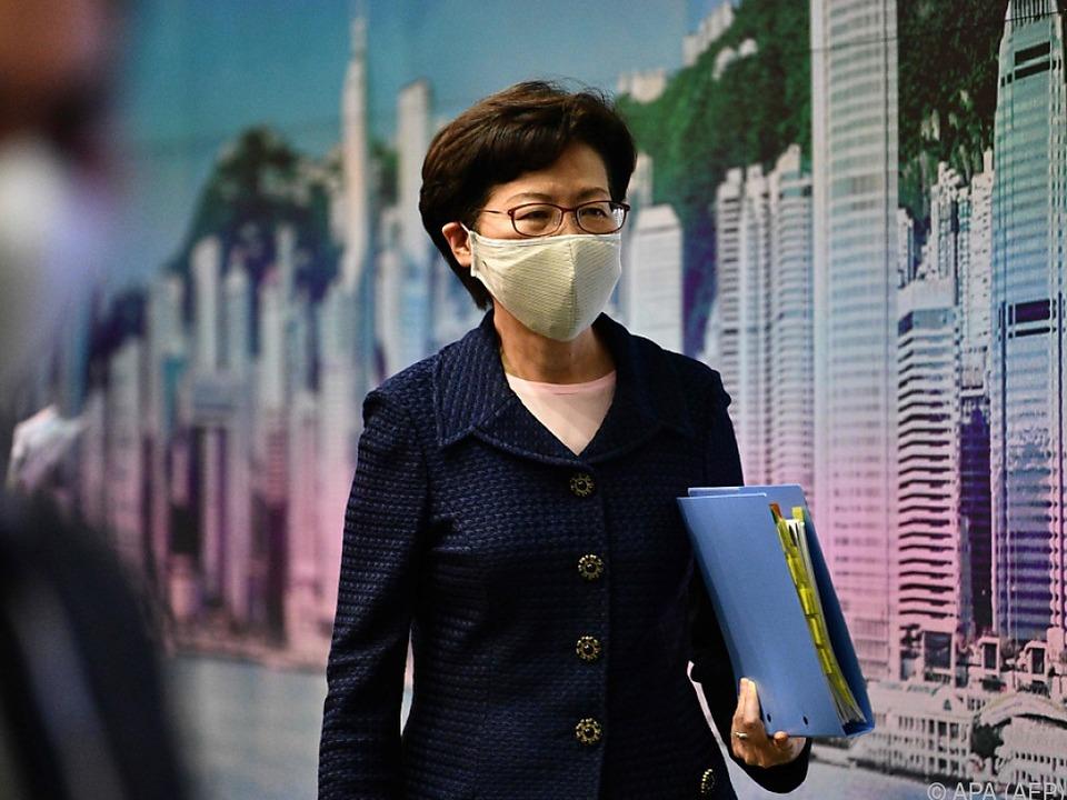 Hongkongs Regierungschefin unter massiver Kritik der USA