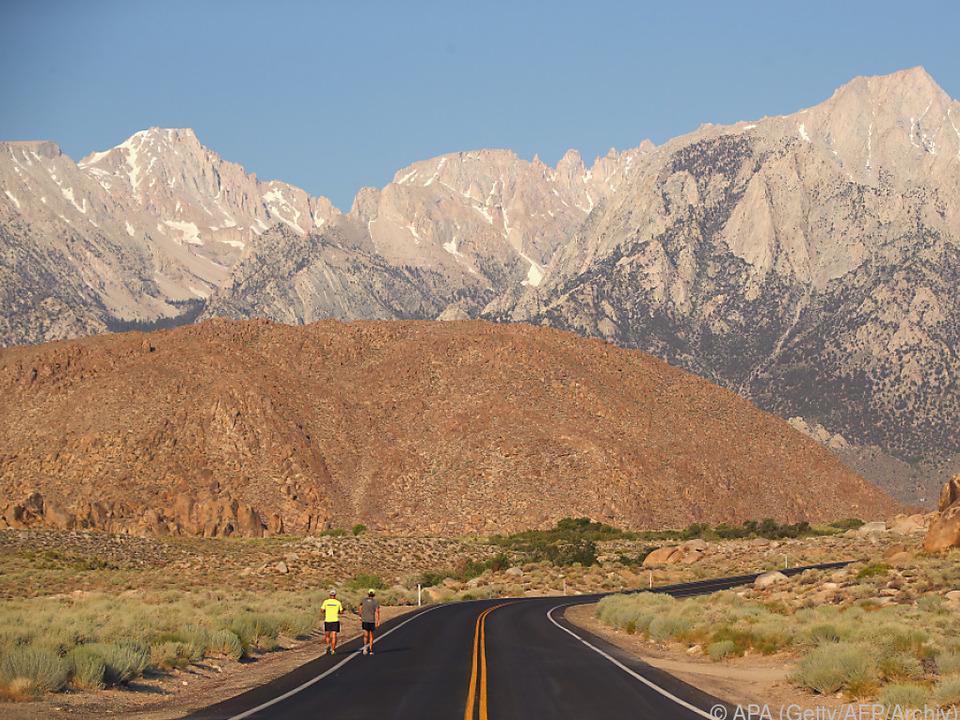 Im Death Valley hatte es 54,4 Gerad Celsius