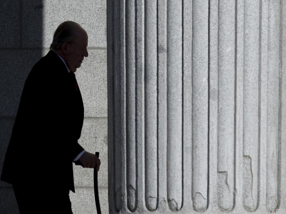 Juan Carlos hatte am Montag angekündigt, ins Exil zu gehen