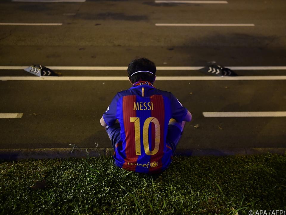 Katalanische Messi-Fans haben es derzeit nicht einfach