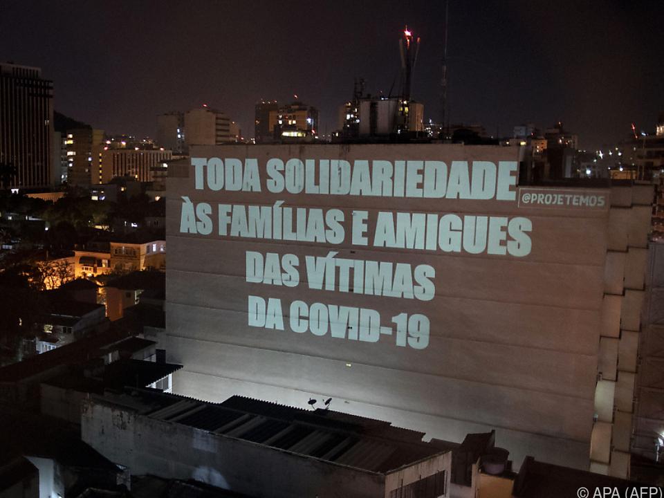 Mittlerweile wurden 100.000 Tote in Brasilien verzeichnet