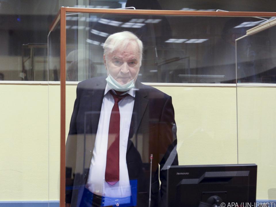 Mladic beruft gegen Verurteilung zu lebenslanger Haft
