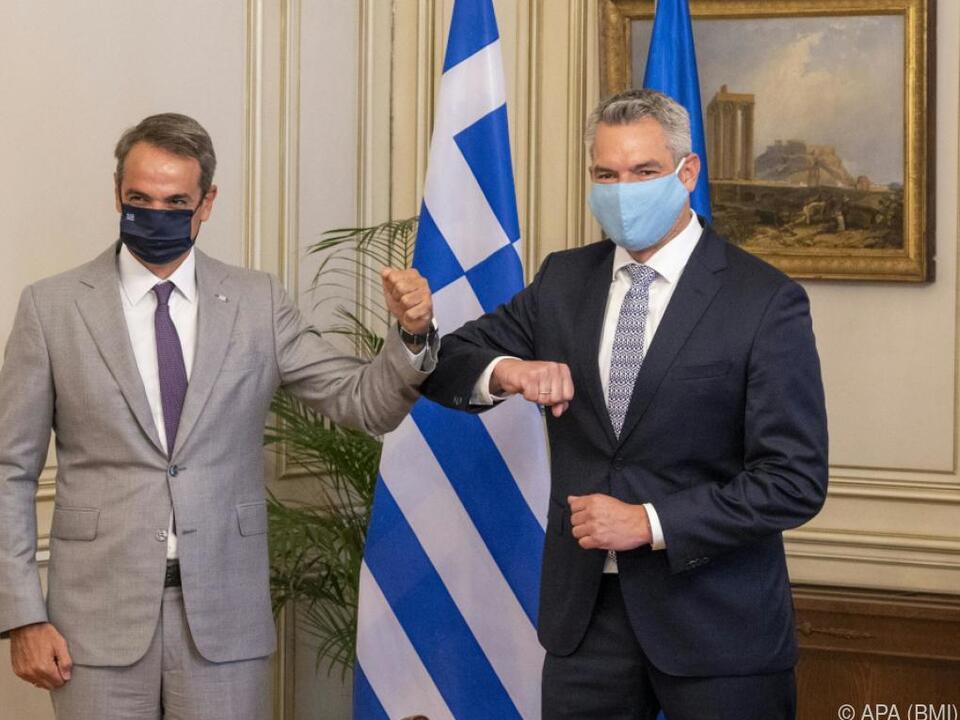 Nehammer bei Premier Mitsotakis in Athen