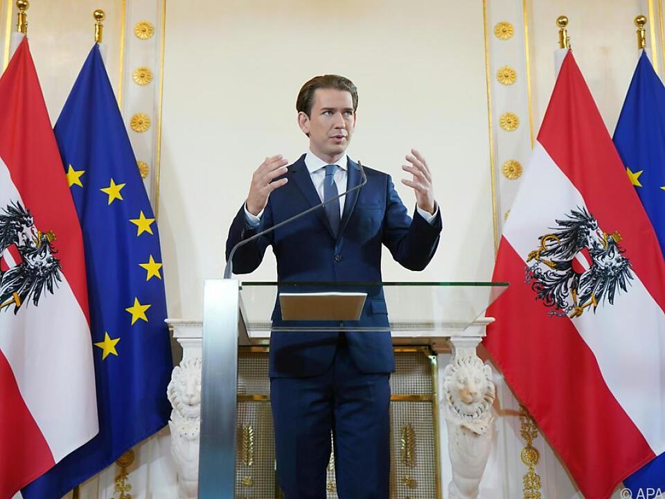 Österreich sei als kleines Land nicht verschont geblieben, so Kurz