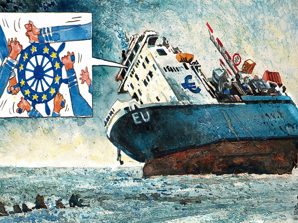 Oliver Schopf_EU Schiff auf Eurokurs_2011 (c) Privat