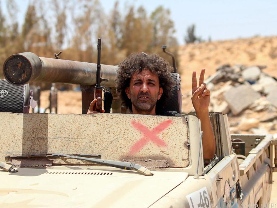 Panzer der offiziellen libyschen Regierung