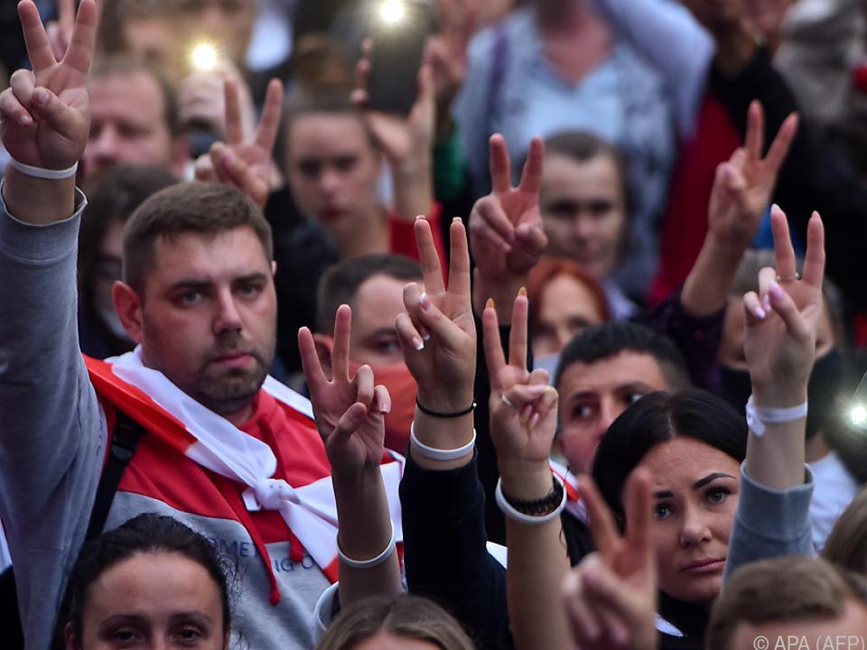 Proteste richten sich gegen Staatschef Lukaschenko