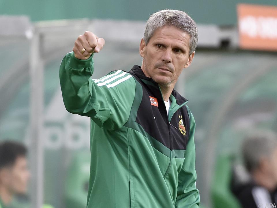 Rapid-Coach Kühbauer sieht sein Team gut vorbereitet