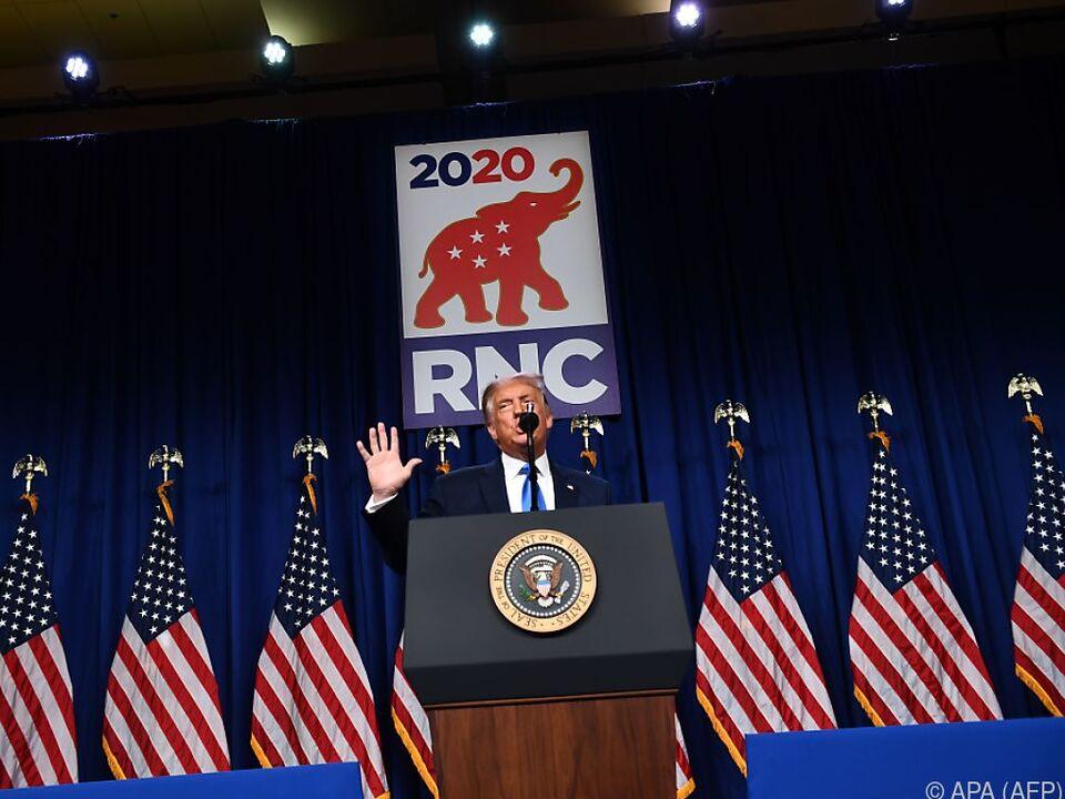 Sein Gegner bei den Wahlen am 3. November ist der Demokrat Joe Biden