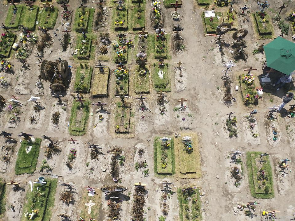 Spezialgräber für Corona-Todesopfer in der Nähe von Mexiko-Stadt