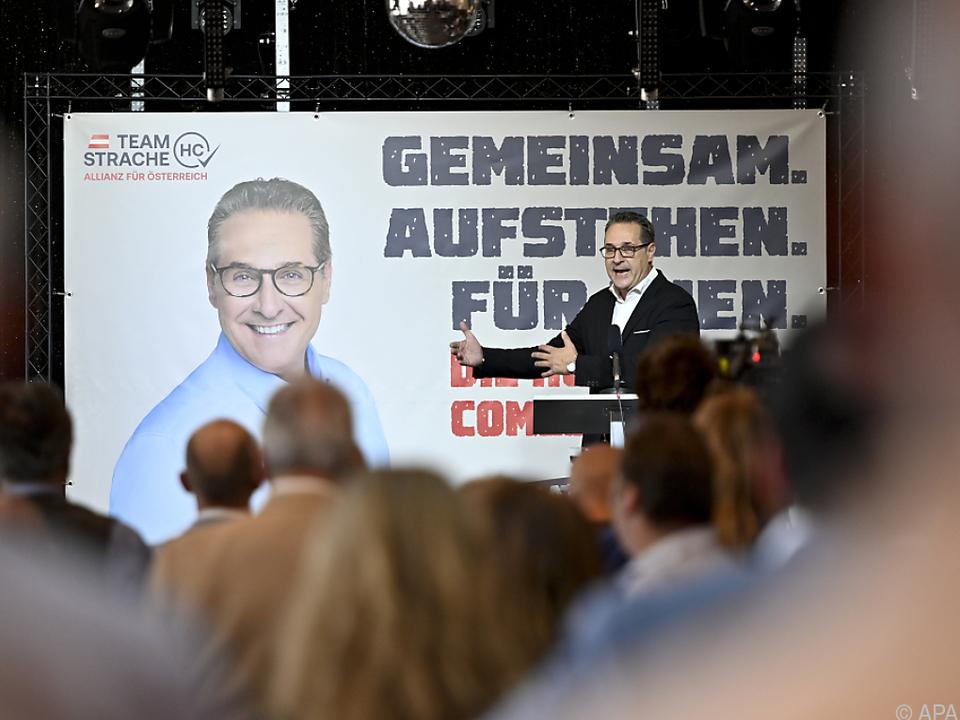 Strache gab sich optimistisch, es in den Landtag zu schaffen