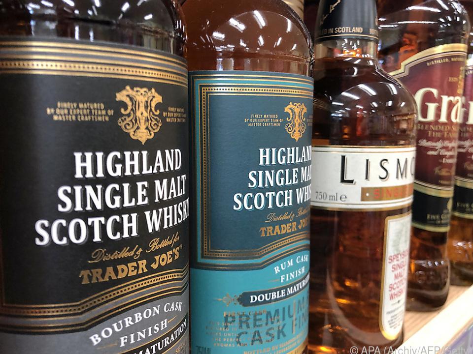 Strafzoll etwa für schottischen Single-Malt Whisky