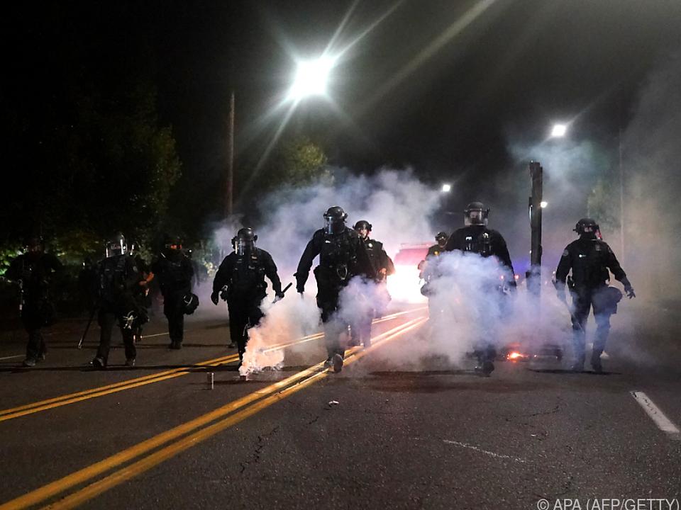Tägliche Proteste in Oregon gehen unvermindert weiter