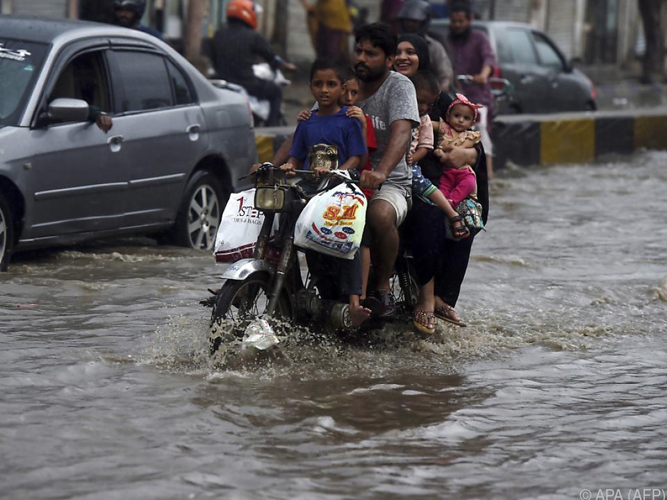 Teile Pakistans wurden überflutet
