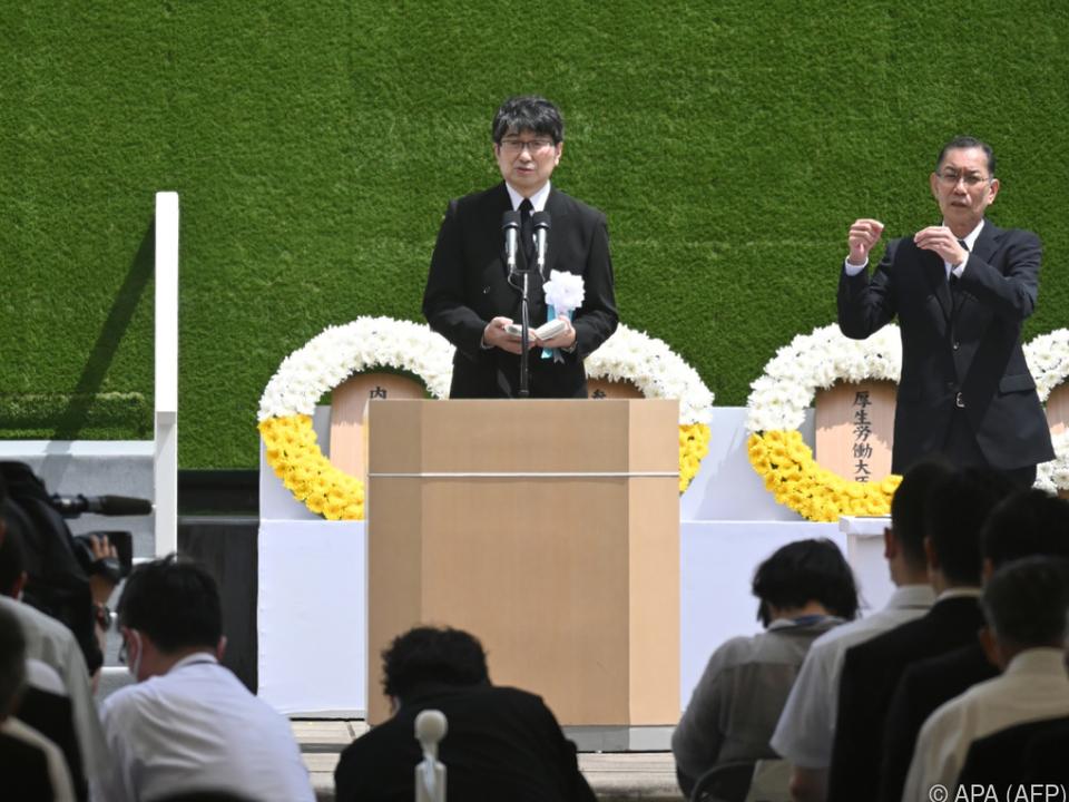 Tomihisa warnte eindringlich vor Atomwaffen