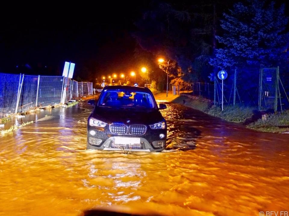 Überflutung im Bereich Fehring