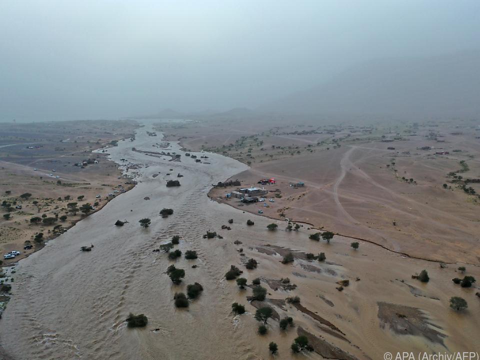Überschwemmungen durch schwere Regenfälle im Jemen
