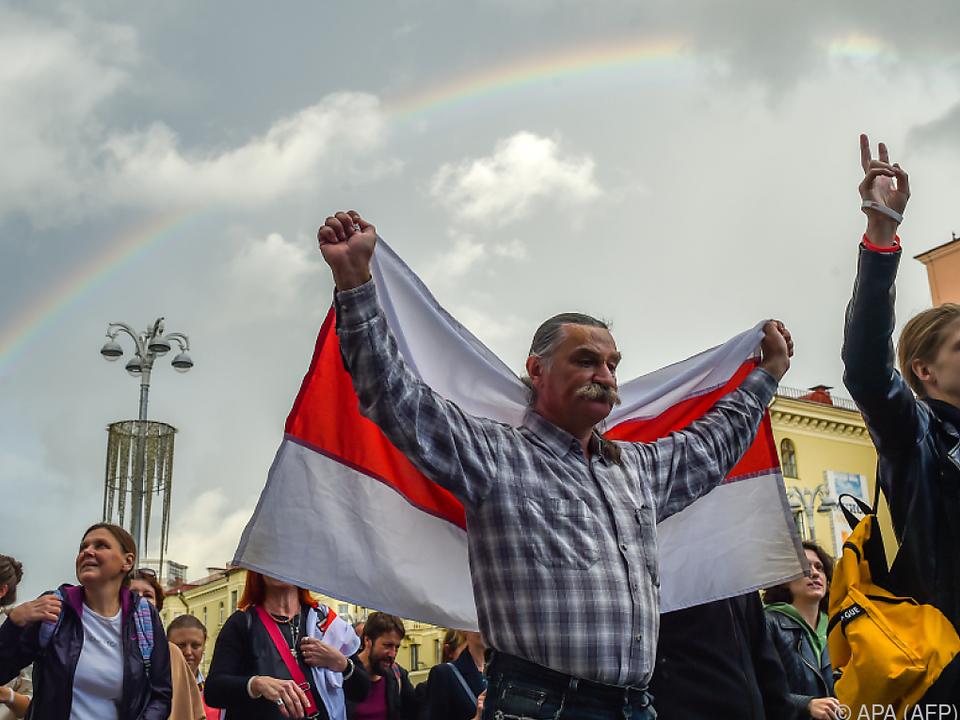 Weißrussland seit mehr als zwei Wochen von Protesten überschattet