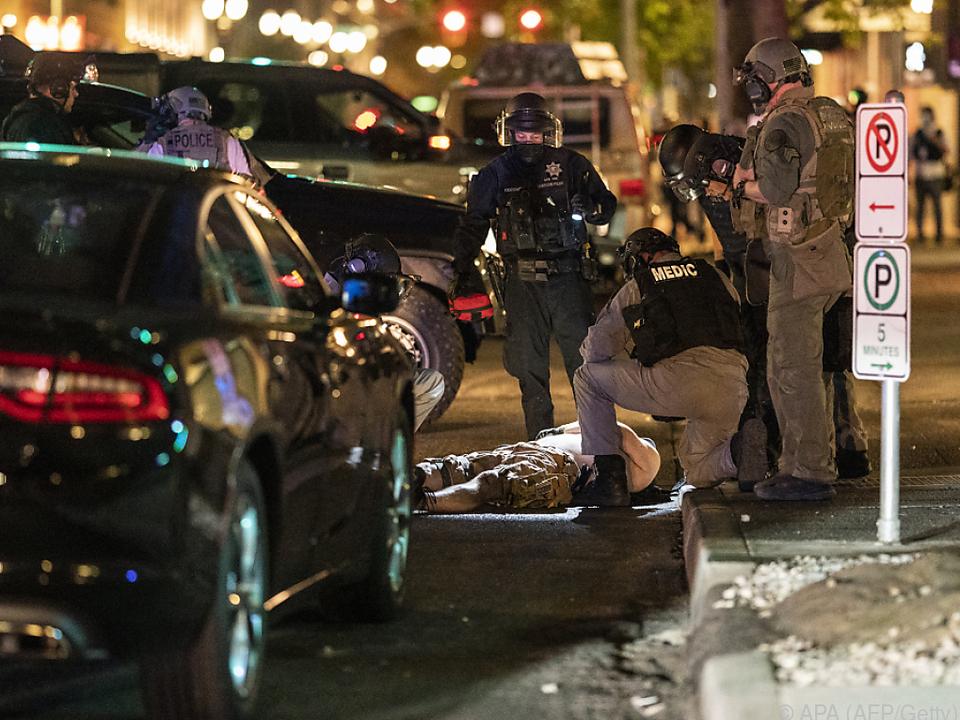 Wieder kam es zu gewaltsamen Zusammenstößen in den USA