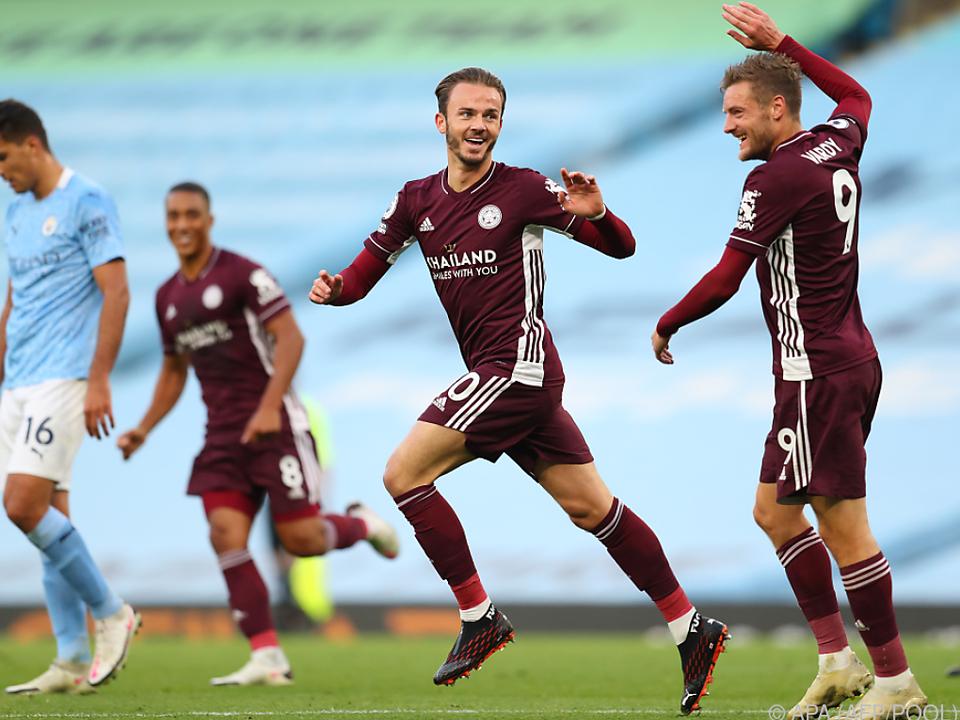 Allein drei Treffer erzielte Jamie Vardy