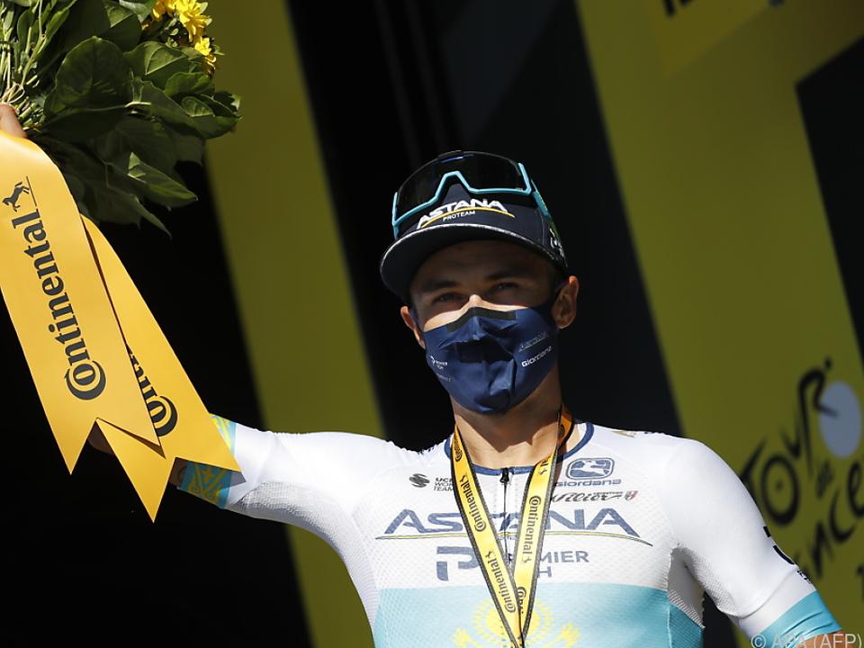 Astana-Fahrer Luzenko feiert den Tagessieg