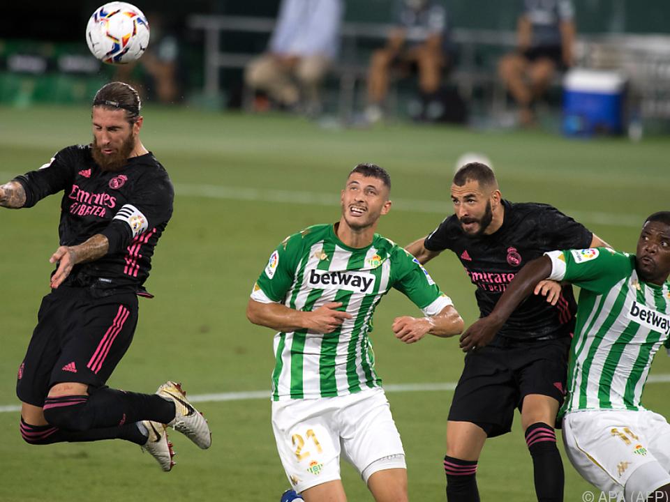 Betis brachte Real fast Niederlage bei