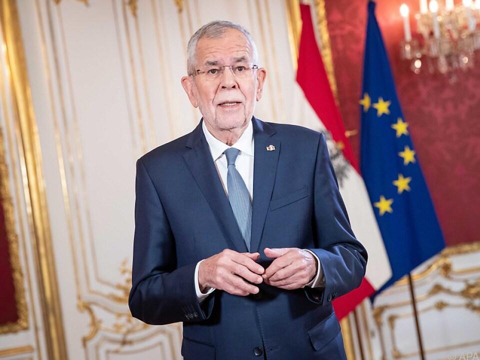 Bundespräsident Van der Bellen würdigt die Verfassung
