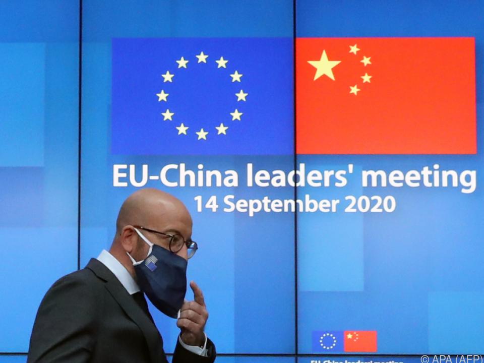 Charles Michel im Rahmen des Gipfels