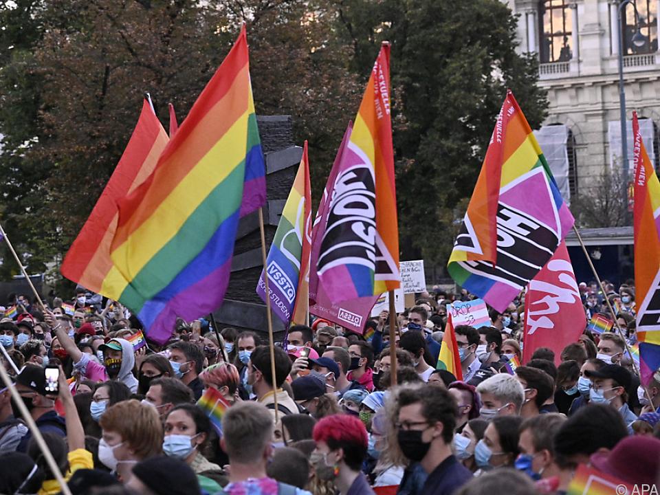 Demo gegen Homophobie