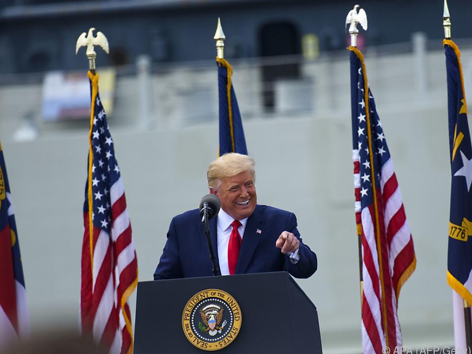 Der US-Präsident bleibt bei seiner spaltenden Linie