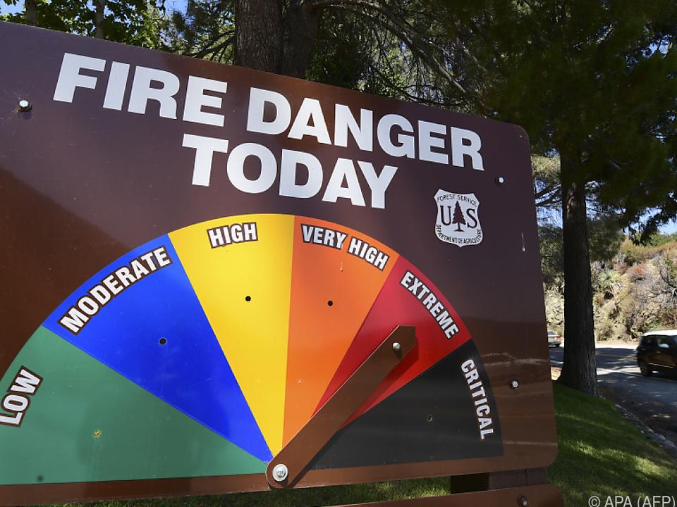 Derzeit wüten 20 Brände in Kalifornien