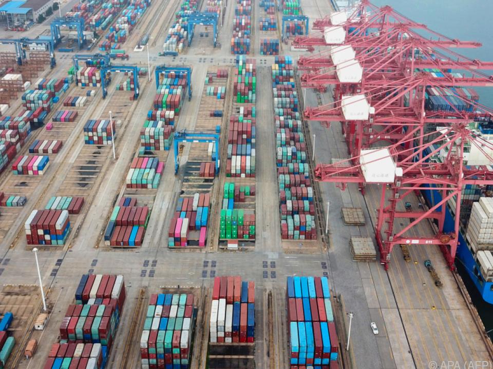 Die chinesischen Exporte legten um 9,5 Prozent zu